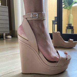 BCBG Maxazria Pink Wedge Sandal